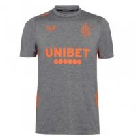 Tricou fotbal Castore Rangers 2020 2021 pentru Copil gri portocaliu