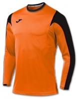 Tricou fotbal Estadio Joma Orange-negru cu maneca lunga portocaliu