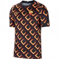 Tricou fotbal Nike AS Roma 2020 2021 pentru Barbat negru auriu
