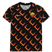 Tricou fotbal Nike AS Roma 2020 2021 pentru Copil negru auriu