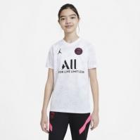 Tricou fotbal Nike Paris Saint Germain x Jordan pentru Copil alb