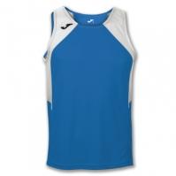 Tricou jogging Record Joma Royal-alb fara maneci albastru roial