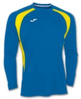 Tricou Joma Champion III Royal-galben cu maneca lunga albastru roial