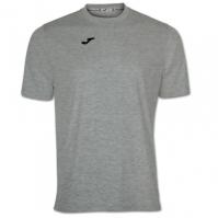 Tricouri Joma T- Combi Light Melange cu maneca scurta gri deschis