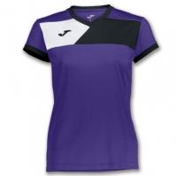 Tricou Joma Crew II cu maneca scurta Purple-negru pentru Dama