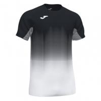 Tricou Joma Elite Vii negru-alb-gri cu maneca scurta