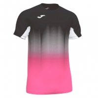 Tricou Joma Elite Vii negru-fluor roz-alb cu maneca scurta