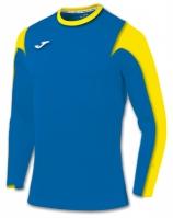 Tricou fotbal Estadio Joma Royal-galben cu maneca lunga albastru roial