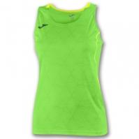 Tricou Joma Record II fara maneci verde Fluor pentru Dama fosforescent