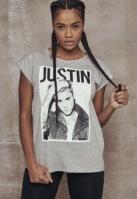 Tricou Justin Bieber pentru Dama deschis-gri Merchcode