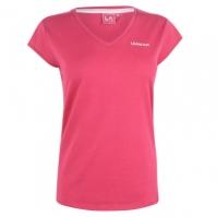 Tricou LA Gear cu decolteu in V pentru Dama brt roz