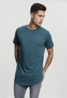 Tricou lung Shaped Melange bleu Urban Classics