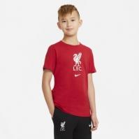 Tricou Nike Liverpool Crest pentru Copil rosu