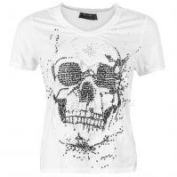 Tricou Religion Skull Embellished