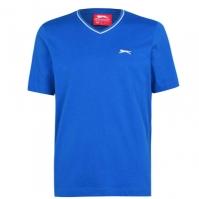 Tricou Slazenger cu decolteu in V pentru Barbat albastru roial