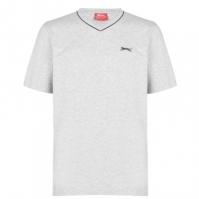 Tricou Slazenger cu decolteu in V pentru Barbat gri marl