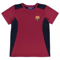 Tricou Source Lab Lab Barcelona pentru baietei deep rosu