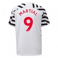 Tricou sport Third adidas Manchester United Anthony Martial 2020 2021 pentru Copil alb negru