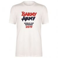 Tricou Team Anglia Cricket bumbac pentru Barbat winners alb