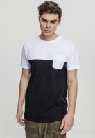 Tricou vara cu buzunar Color Block negru-alb Urban Classics