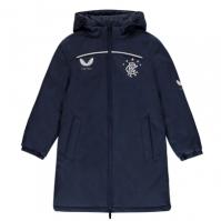 Tricouri antrenament Castore Rangers Quarter cu fermoar 2020 2021 pentru Copil bleumarin
