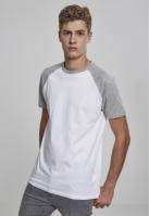 Tricouri casual in doua culori pentru Barbat alb-gri Urban Classics