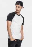 Tricouri casual in doua culori pentru Barbat alb-negru Urban Classics