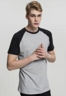 Tricouri casual in doua culori pentru Barbat gri-negru Urban Classics