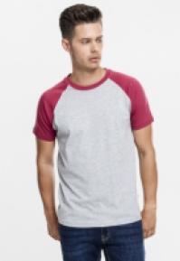 Tricouri casual in doua culori pentru Barbat gri-rubin Urban Classics