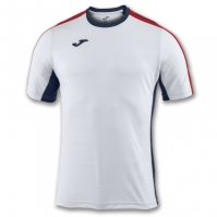 Tricouri Joma T- Granada alb-bleumarin-crimson cu maneca scurta