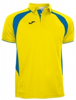Tricouri polo Joma Champion III galben-royal cu maneca scurta