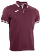 Tricouri polo Joma Combi Burgundy cu maneca scurta rosu