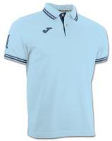 Tricouri polo Joma Combi Sky albastru cu maneca scurta deschis