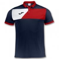 Tricou Joma Crew II bleumarin-rosu cu maneca scurta