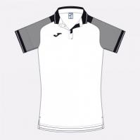 Tricouri polo Joma Essential II alb-negru cu maneca scurta