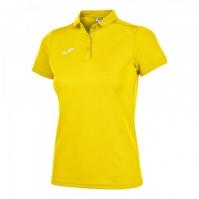 Tricouri Polo Joma Hobby galben cu maneca scurta pentru Dama