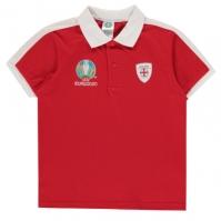 Tricouri Polo UEFA Anglia pentru baietei rosu