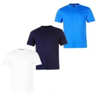 Tricouri Set de 3 Donnay pentru Barbat alb albastru bleumarin
