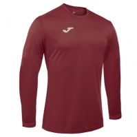 Tricouri sport Joma Campus cu maneca lunga Burgundy