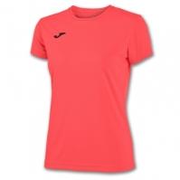 Tricouri sport Joma T- Combi Coral Fluor cu maneca scurta fosforescent