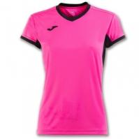 Tricouri sport Joma T- Champion Iv roz-negru cu maneca scurta pentru Dama