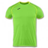 Tricou jogging Record Joma II verde Fluor-galben cu maneca scurta