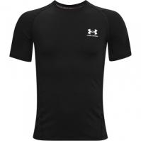 Tricouri Under Armour Heat Gear Armour pentru baietei negru