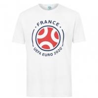 Tricou UEFA Franta imprimeu Graphic pentru Barbat alb
