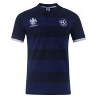 Tricouri polo cu dungi UEFA Franta pentru Barbat bleumarin albastru