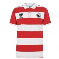 Tricouri polo cu dungi UEFA Shirt pentru Barbat alb rosu