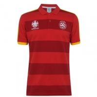Tricouri polo cu dungi UEFA Spania Shirt pentru Barbat rosu
