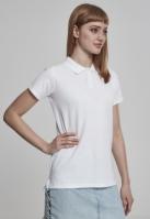 Wash Polo Tee pentru Dama alb Urban Classics