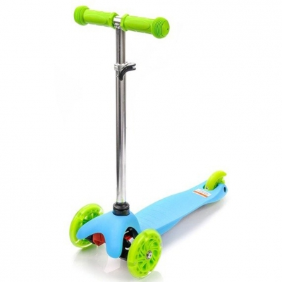 Scooter trojko?owa with wheels Led Meteor Tucan blue-green 22500