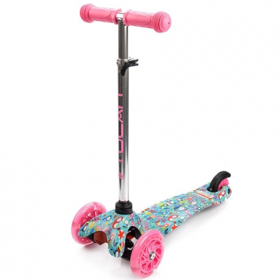 Scooter trojko?owa with wheels Led Meteor Tucan Birds 22555